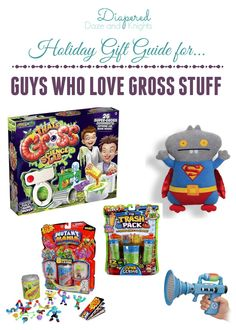 Gift Ideas for Gross Boys - Lots of ideas for kids who love farts, doody, boogers, and bugs.