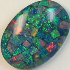 16.8 cts AAA + MOSAIC TOP CRYSTAL OPAL  C8411   opal chips, opal chips , mosaic  fire opal ,