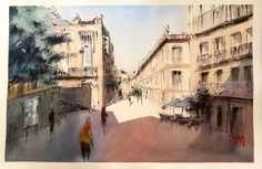 Centro Cultural [Ourense]  chinese ink + watercolor | 38 x 56 cm  •