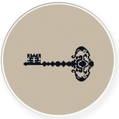 Instant download,free shipping,Cross stitch pattern, Cross-Stitch PDF,vintage key,zxxc0340