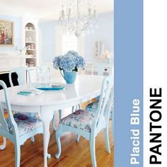 How to decorate with 2014 Pantone color trends | Home Design Ideas | #2014trend #colour Placid Blue