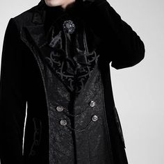 gothic victorian clothing for men   ... Velvet Victorian Gothic Fashion Trench Coat Clothing Men SKU-11401421