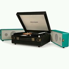 New RETRO Crosley SNAP Turquoise 3 speed vinyl turntable record player Fast Ship