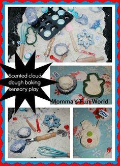 Momma's Fun World: Holiday scented sensory cloud dough