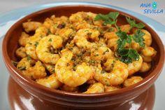Langostinos al pimentón (Y su fumet) olla GM Ana Sevilla Spanish Tapas, Fish Dishes, Cauliflower, Shrimp, Meat, Vegetables, Cooking, Gm Olla, Blog