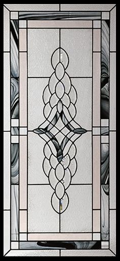 Stained Glass Door Inserts - Rosetta 22x48 Stocked by Randal's Wrought Iron & Stained Glass serving the Greater Toronto Area and surrounding areas.
