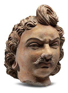 Bactrian Gandhara head Afghanistan