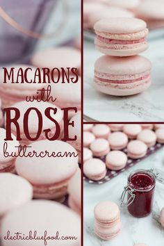 Rose macarons with rose preserve buttercream | recipes | recipe | desserts | sweets | light | | homemade | baking | french recipes |