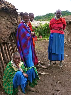 Beauties!  Maasai village (Tanzania)