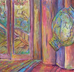 """Thrown Pot Acrylic On Canvas 30"""" x 30""""  2013"""