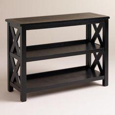 Antique Black Verona Two-Shelf Bookshelf