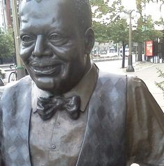 Oscar Peterson Statue at Albert St. & Elgin St. Ottawa Ontario Canada