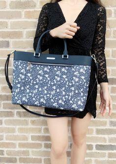 cc5d860e67da Michael Kors Colgate Large East West Tote Navy Floral Laptop Bag #top  #ebaybusiness #