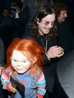 .- Ozzy Osbourne and Chucky - #oddcouples #music #ozzy #chucky http://www.pinterest.com/TheHitman14/odd-couples-%2B/