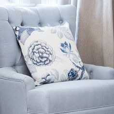 Lavender Hill Interiors offers a beautiful range of elegant and comfortable Hamptons & French provincial style cushions. Floral Cushions, Printed Cushions, Duck Egg Blue Linen, White Trellis, Linen Bedroom, Master Bedroom, Hill Interiors, White Backdrop, Inspired Homes