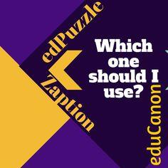 Dahl's Dugout: Zaption, EduPuzzle, edCannon: What is the difference?