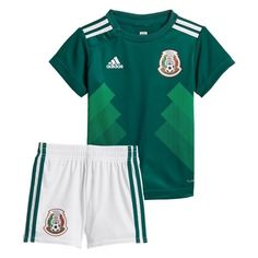 Mexico home World Cup 2018-2019 Jersey W Shorts Kid Youth For Age 3-13.  Soccer KitsFootball ... abc58f34b