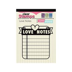 We R Memory Keepers - Love Struck Collection - Clear Acrylic Stamps - Love Notes Sweet Notes, Love Notes, We R Memory Keepers, Dear Santa, Just Me, Clear Stamps, Clear Acrylic, Create Your Own, Scrapbook
