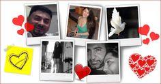 Foto-Collage mit fünf Fotos und viel Herz