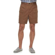 Men's Croft & Barrow® Classic-Fit Side Elastic Cargo Shorts, Size: 34, Med Brown