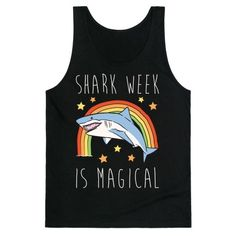 What's more magical than a shark? How about an entire week devoted to them! It's summer time which means it's time for swimming and sharks! Show off your love for sharks this summer with this cute and magical, shark shirt!