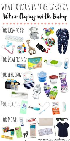 Flying with Baby: Pack these items in your carry on and guarantee a smooth travel day! | ournextadvent