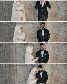 Görüntünün olası içeriği: 6 kişi, düğün - Fr Tutorial and Ideas Muslim Wedding Photos, Romantic Wedding Photos, Muslim Wedding Dresses, Wedding Couple Poses Photography, Wedding Poses, Wedding Couples, Couples Musulmans, Cute Muslim Couples, Hijabi Wedding