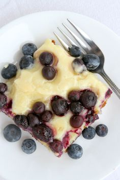 Blueberry Gooey Butter Cake Recipe