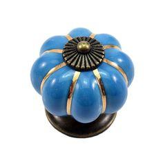 KSOL 12Pcs Pumpkin Zinc Ceramic Door Knobs Drawer Pull Handle Kitchen Cabinet Cupboard Wardrobe Blue #men, #hats, #watches, #belts, #fashion