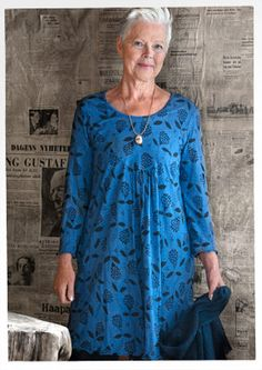 """""""Klöver"""" lyocell dress – GUDRUN SJÖDÉN. Through size XXL, which looks like US size 18-20 or maybe 22 depending on the cut."""