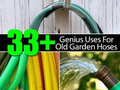 33-uses-old-garden-hoses Some great idea's here however, I wouldn't use hose as a chew toy for dogs nor would I burn it in a fire because of the toxins.