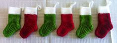 Crocheted Miniature Christmas Stockings