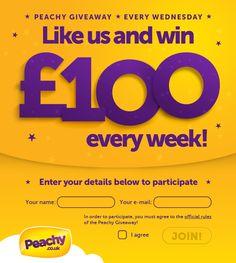 #PeachyWednesday ! Win £100 every Wednesday!