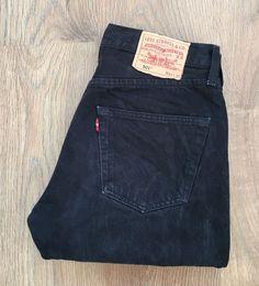 510c81a6ef Levi's 501 Classic Straight Fit Black Mens Jeans Size W31 L30 Button Fly  Levi