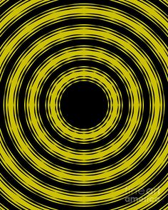 In Circles- Yellow Version by Roz Abellera Wallpaper Pictures, Yellow Black, Circles, Abstract, Artwork, Image, Summary, Work Of Art