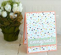 DIY Card Making: Quick & Easy Congratulations Card by iteachstamping @2peasinabucket