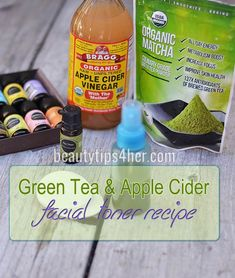 DIY Apple Cider Vinegar and Green Tea Facial Toner   Beauty and MakeUp Tips