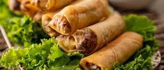 ROULEAUX DE PRINTEMPS AU POULET ÉPICÉS AU SAMBAL Sausage, Ajouter, Meat, Desserts, Food, Gull, Table, Green Onions, Kitchens