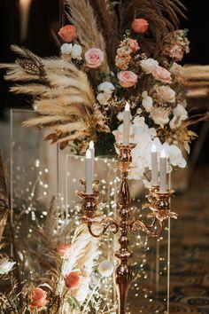 Quinceanera Decorations, Outdoor Wedding Decorations, Wedding Themes, Our Wedding, Wedding Ideas, Candelabra Wedding Centerpieces, Centerpiece Decorations, Vintage Glam, Vintage Inspired