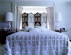 love this ornate room divider, privacy fold out, particularly in front of a window for light to filter through...