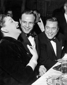 Marlon Brando,  Edmund O'Brien and Judy Garland