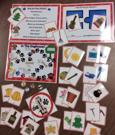 $ Associations and describing fun with picture cards and an adorable little dog-themed game.
