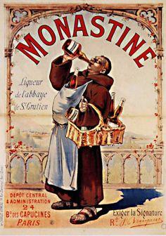 1892 Eugène Ogé La Monastine, affiche lith. en couleurs, dimensions inconnues, non signée