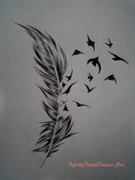 Image result for believe infinity feather tattoo