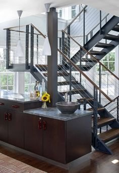 free standing wood staircase - Google Search