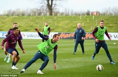 Harry Kane is training with the England team at St George's Park for the first time this week