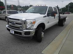 2013 Ford F-350 XLT CrewCab Flat Bed 4WD, 6.7L V8 Diesel engine, automatic 6-speed transmission, 49,672 miles. CONTACT LAFAYETTE FORD: 5202 Raeford Road, Fayetteville, NC 888-591-6778 -- lafayetteford.com