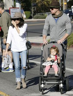 It's been no easy task: The 34-year-old, pictured with husband Channing Tatum and daughter...