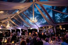 glass top tent with chandeliers | Nate Henderson