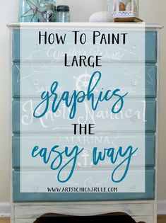 This is a great way to do those large graphics!!! Must try it!! artsychicksrule.com